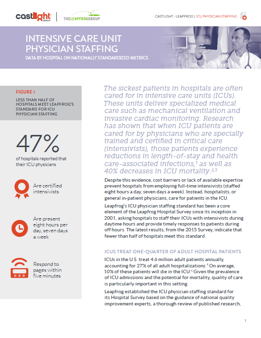 Castlight Report ICU Physician Staffing