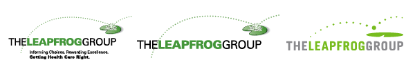 Leapfrog's three past logos