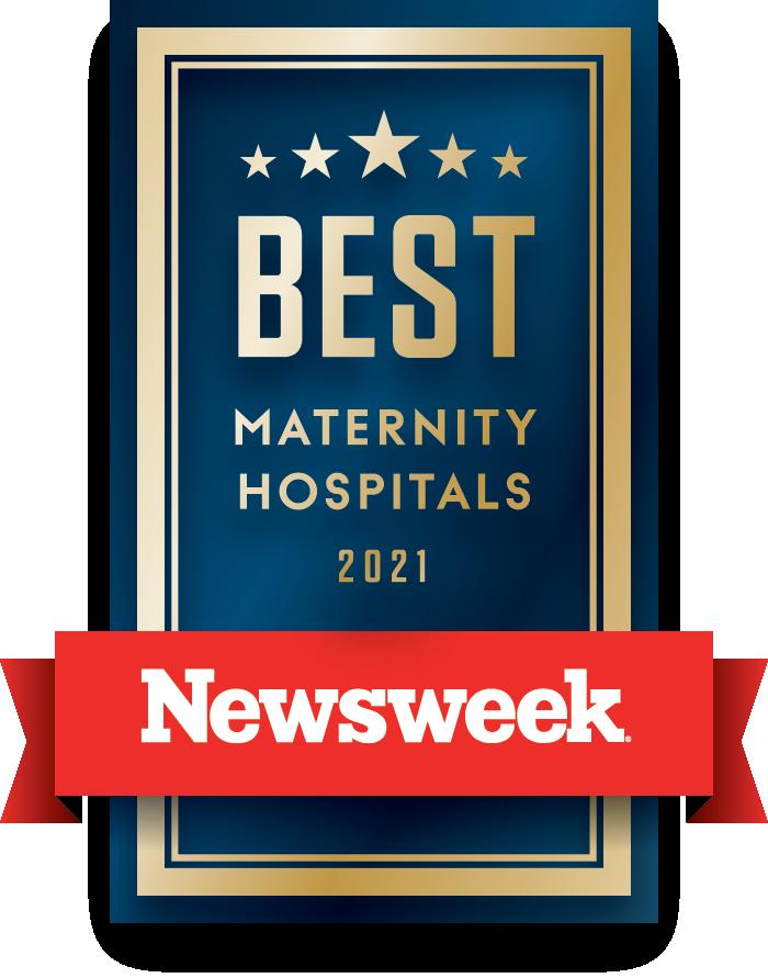 Newsweek Best Maternity Care Hospitals logo 2021