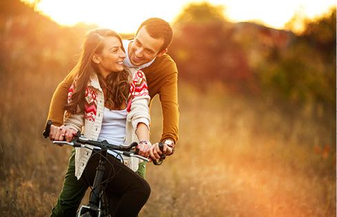 Couple on a bike