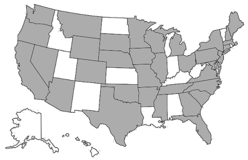 Map of Regional Roll-Outs in the US